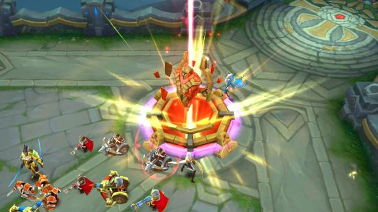Focus on destroying towers and enemy base to rank up fast in Mobile Legends