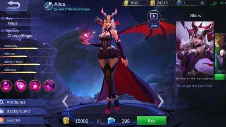 Alice mage hero Mobile Legends