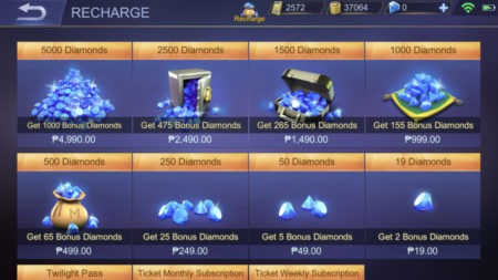 Buy Diamonds from Recharge in Mobile Legends