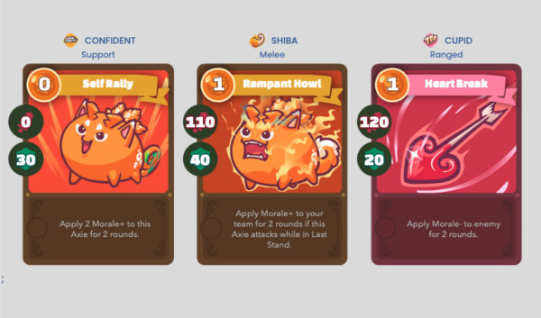 Cards that affect Morale in Axie Infinity