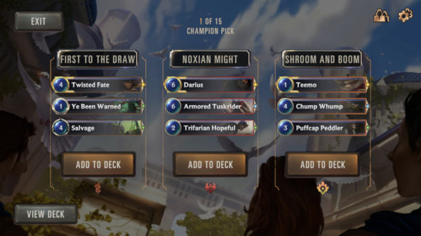 Champion Pick draft Expedition game mode in Legends of Runeterra