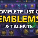Complete List of Emblems & Talents in Mobile Legends [2019]
