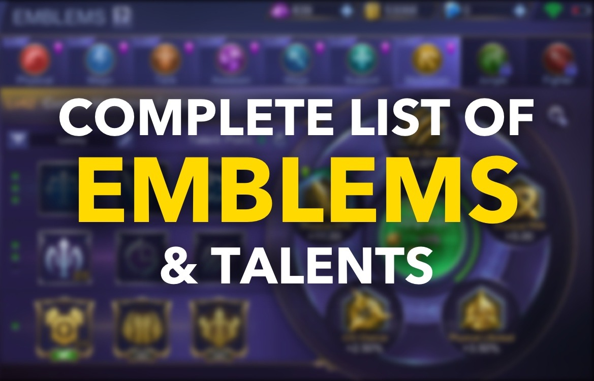 Complete List of Emblems & Talents in Mobile Legends [2020]