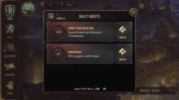 Daily Quests in Legends of Runeterra