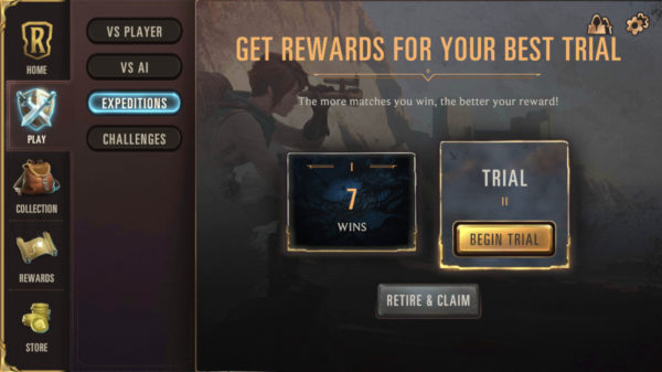Expedition 2nd trial draft game mode in Legends of Runeterra