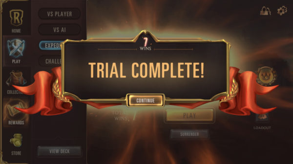 Expedition 7 wins trial complete legends of runeterra