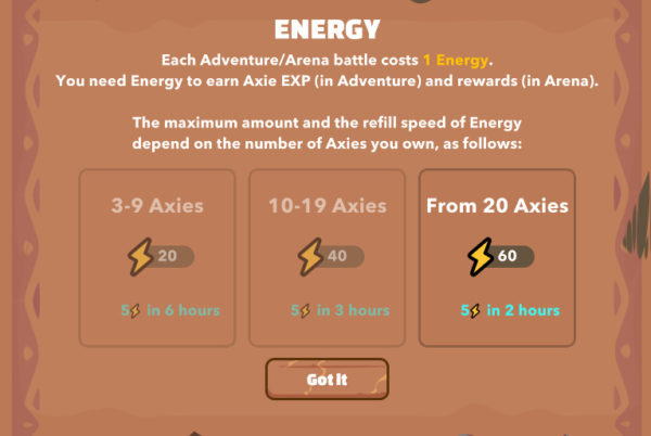 Get more Energy to farm SLP by owning more Axies in Axie Infinity