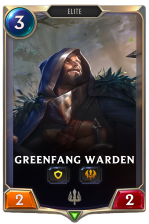 Greenfang Warden Scout card Legends of Runeterra