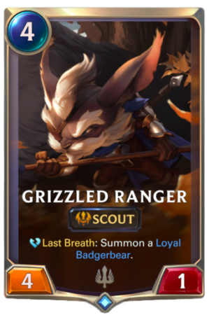 Grizzled Ranger Scout card Legends of Runeterra