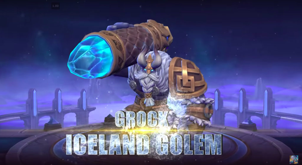 Grock Iceland Golem skin for November 2019 Starlight Mobile Legends
