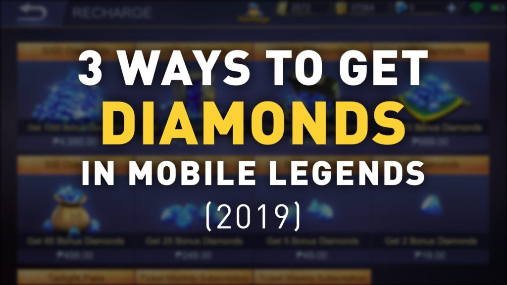 How to Get Diamonds in Mobile Legends 2019