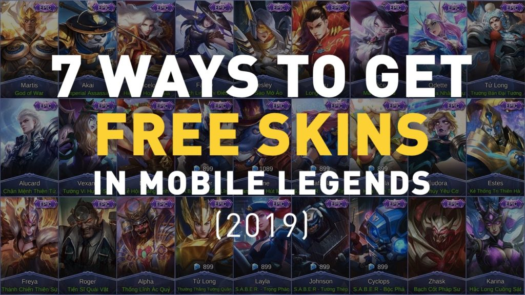 How to Get Free Skins in Mobile Legends 2019
