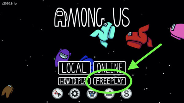 How to be an Impostor in Among Us Freeplay mode