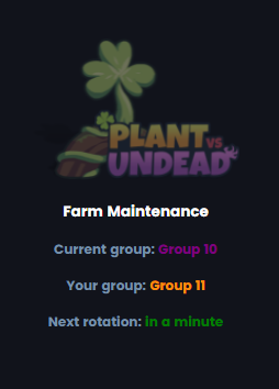 How to check current batch group schedule in Plant vs Undead