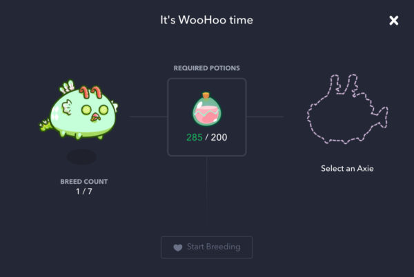 How to earn Axie Infinity by breeding and selling to marketplace