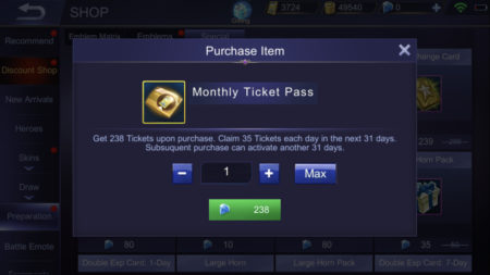 Monthly Ticket Pass in Mobile Legends 3