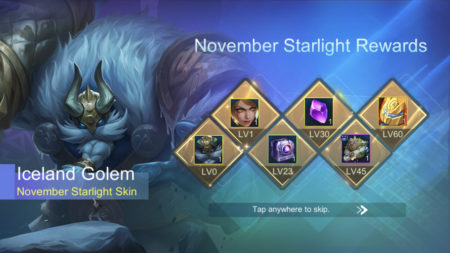 November 2019 Starlight Rewards Mobile Legends