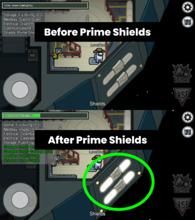 Prime Shields Visual Task in The Skeld Among Us