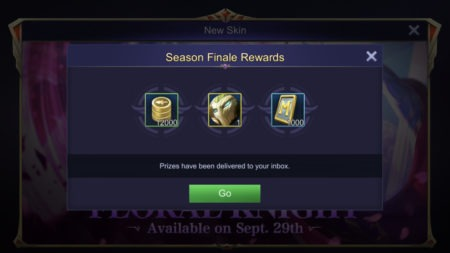 Ranked Season Finale end Rewards tickets in Mobile Legends 2