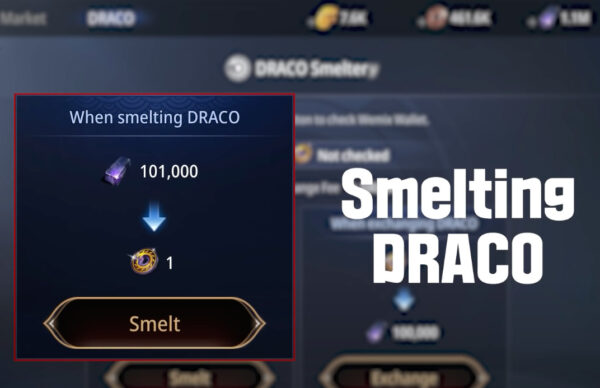 Smelt DRACO with 100000 Darksteel mined in the game MIR4 play to earn