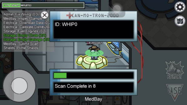 Submit Scan Medbay visual task in Among Us